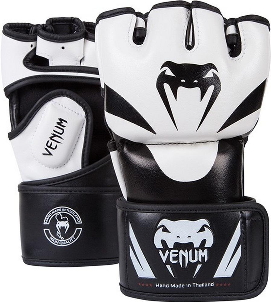 Купить Перчатки MMA Venum Attack Gloves White, 1112_wh_bk