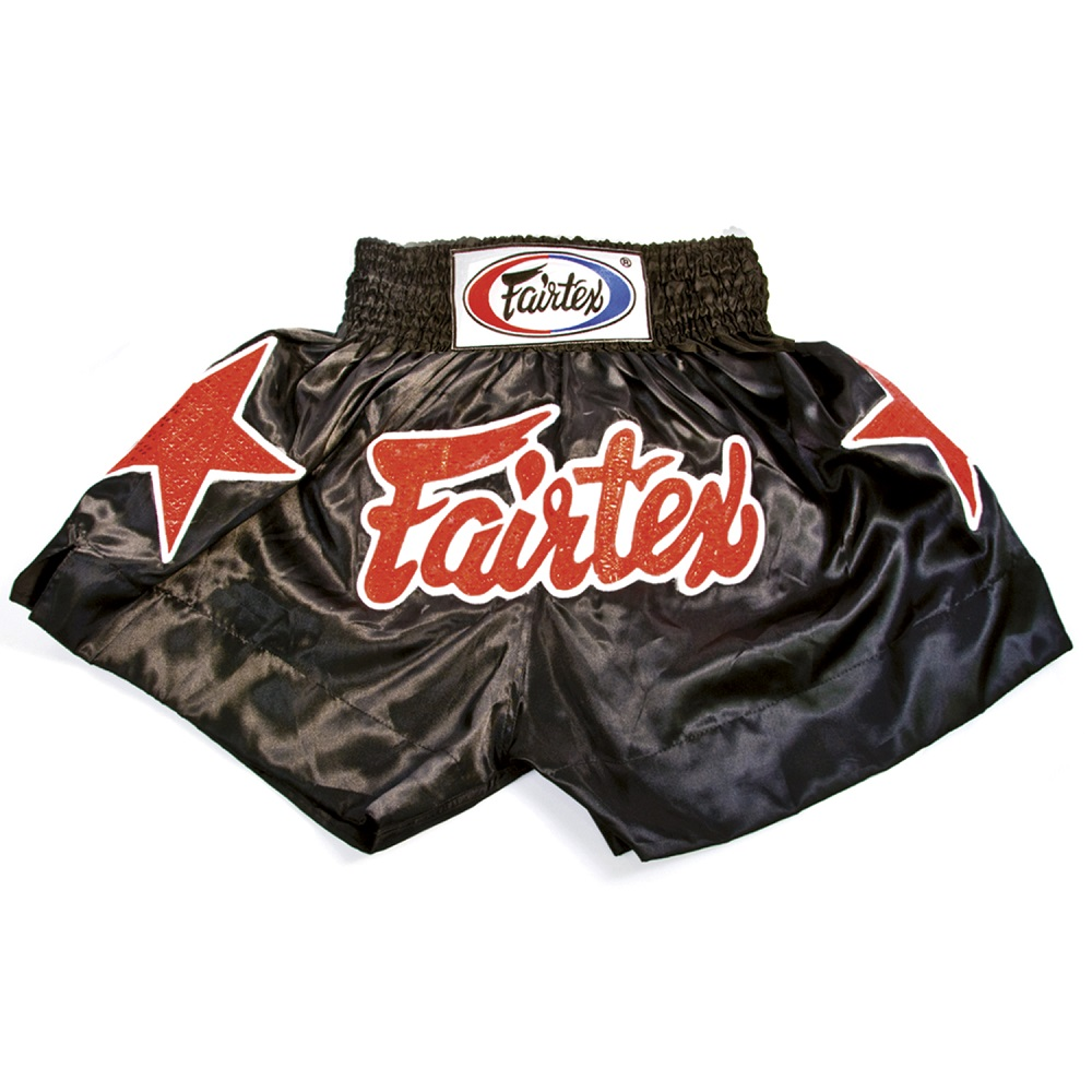 Купить Шорты Fairtex Muaythai Shorts BS86 Black, 5086_bk