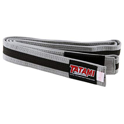 Пояс детский Tatami IBJJF Kids Rank Belts Grey/Black