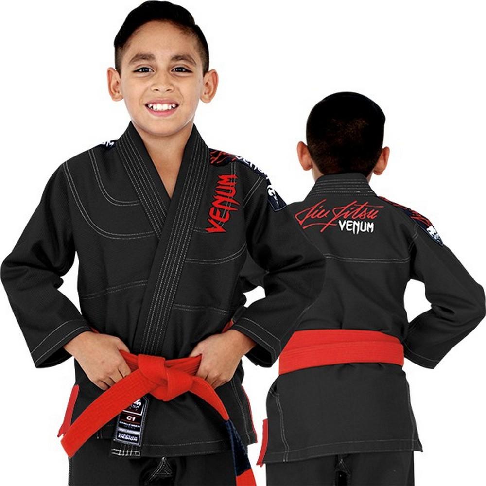 Детское кимоно Venum Challenger 2.0 Kids BJJ Gi Black, 3253_bk  - купить со скидкой