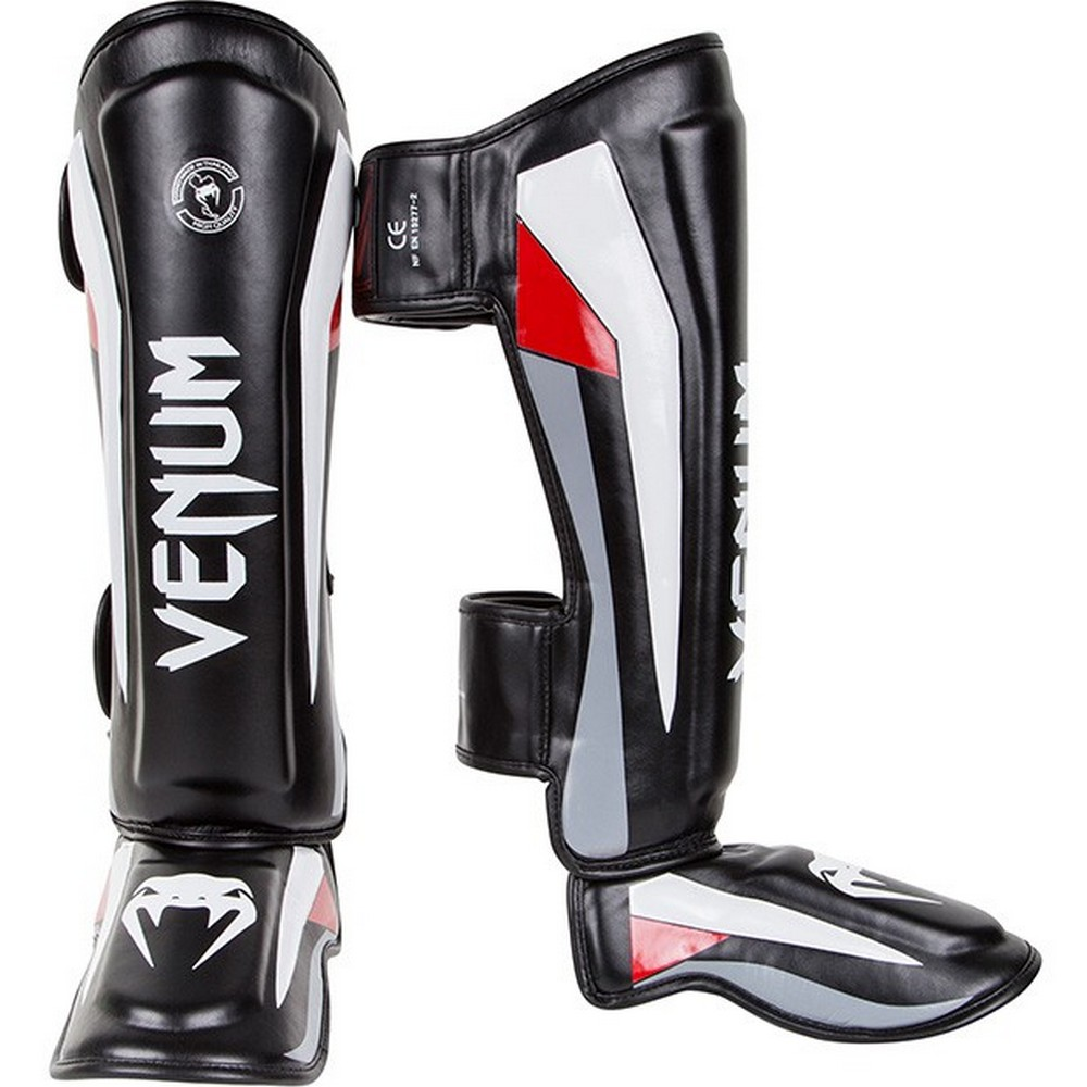 Купить Щитки Venum Elite Standup Shinguards - Black/Red/Grey, 9180_bk_gy