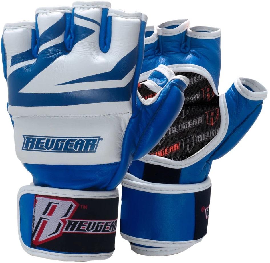 Купить Перчатки для ММА Revgear Deluxe Pro Blue, 6642_bl