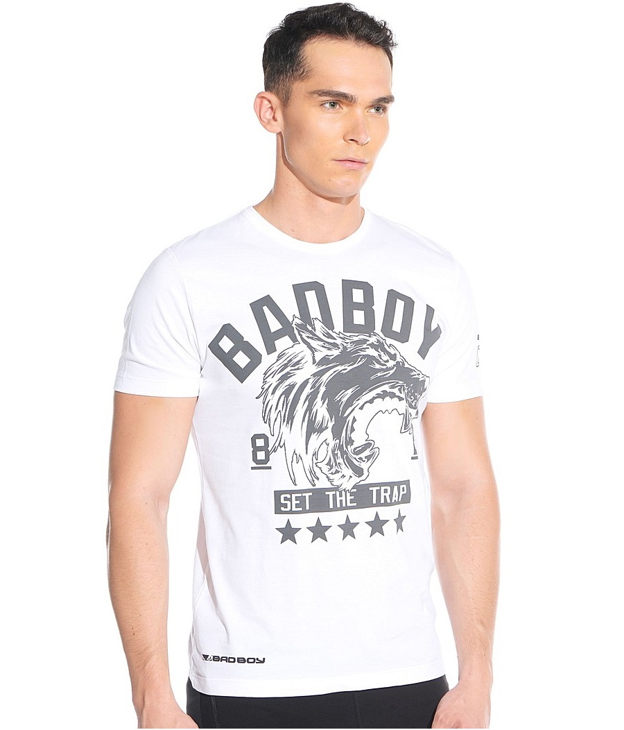 Купить Футболка Bad Boy Wolf MMA (White), 4348RU_wh_gy