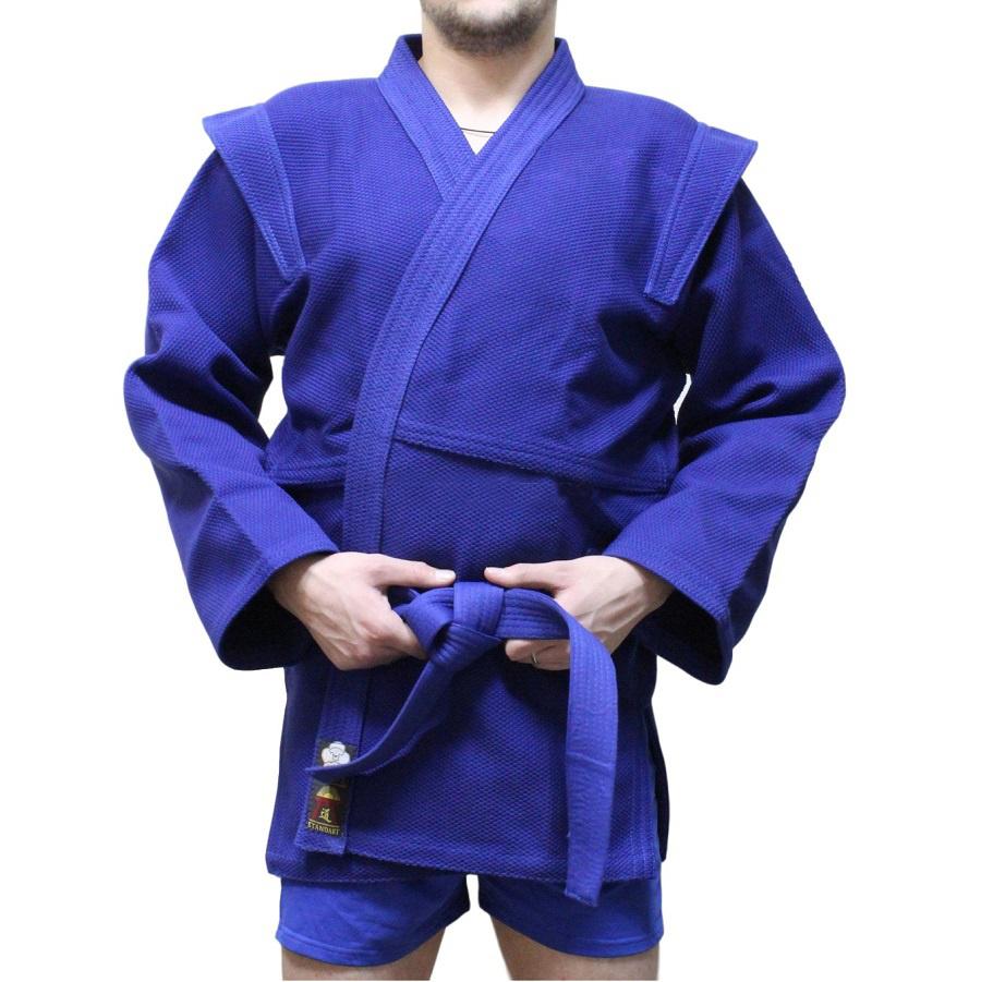 Купить Куртка для самбо 650г/м2 синяя Уценка 185 см, 5598_bl