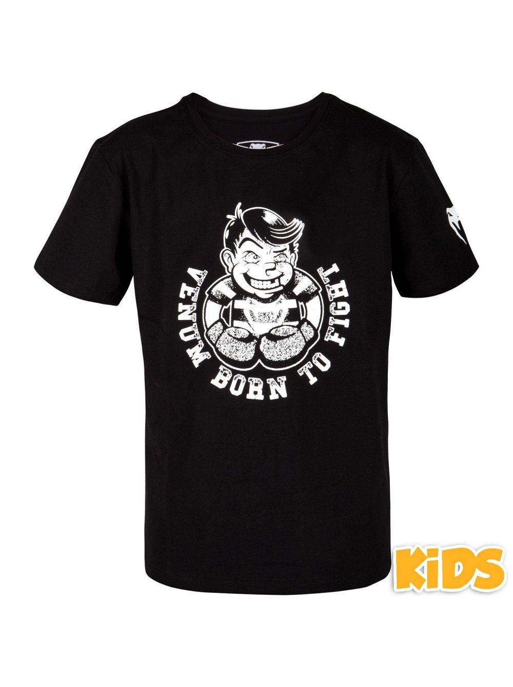 Купить Футболка детская Venum BORN TO FIGHT Black/White, 6404_bk_wh