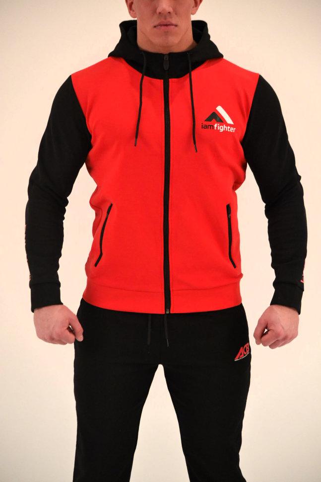 Купить Толстовка Iamfighter Hoody Basic Red/Black, 6322_rd_bk