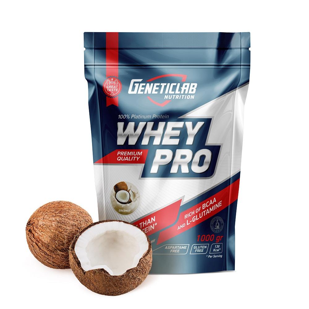 Купить Протеин Geneticlab Whey Pro 1000g/30serv Coconut, 5730_choc