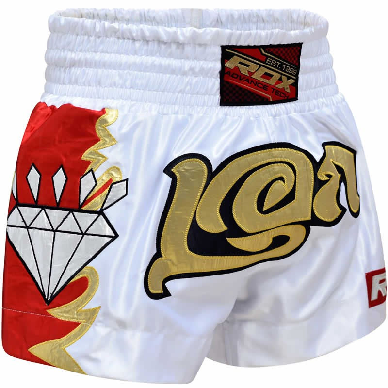Купить Шорты RDX CLOTHING R3 MUAY THAI SHORTS WHITE/GOLD &, 3779_wh_rd