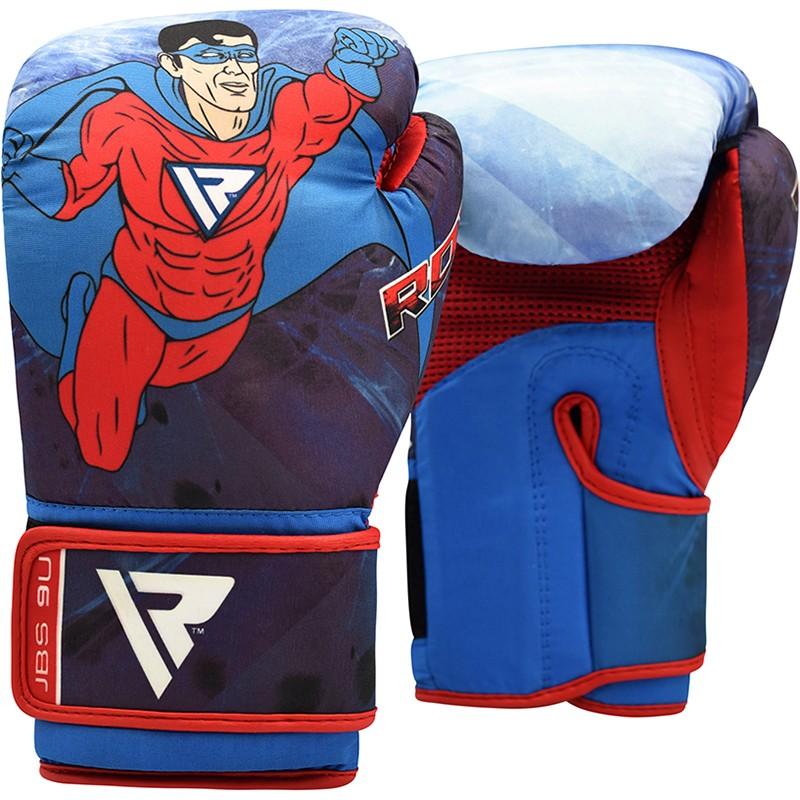 Купить Детские перчатки RDX Boxing Glove Kids Blue JBS-9 - 6oz, 3768_bl_rd