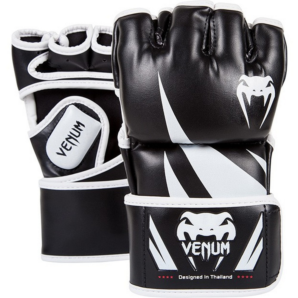 Купить Перчатки для ММА Venum Challenger MMA Gloves - Black/White, 4095_bk_wh
