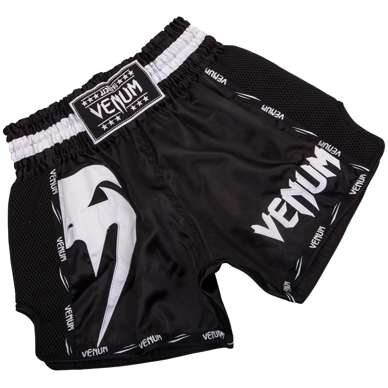 Купить Шорты Venum Giant Muay Thai Shorts Black/White, 5255_bk