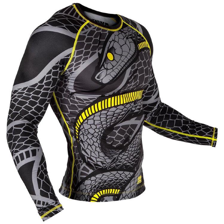 Купить Рашгард Venum Snaker Rashguard LONG Sleeves Black/Yellow, 6150_bk_yl