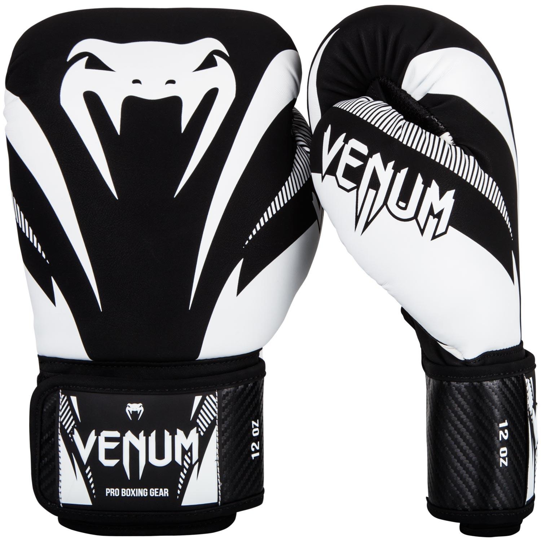 Купить Перчатки для бокса Venum Impact Boxing Gloves Black/White, 5171_bk_wh