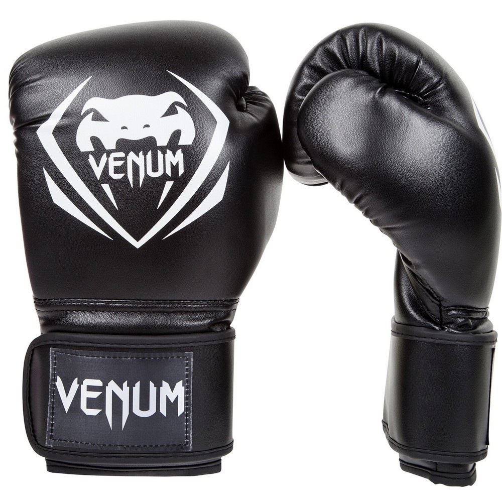 Купить Перчатки для бокса Venum Contender Boxing Gloves - Black, 3141_bk