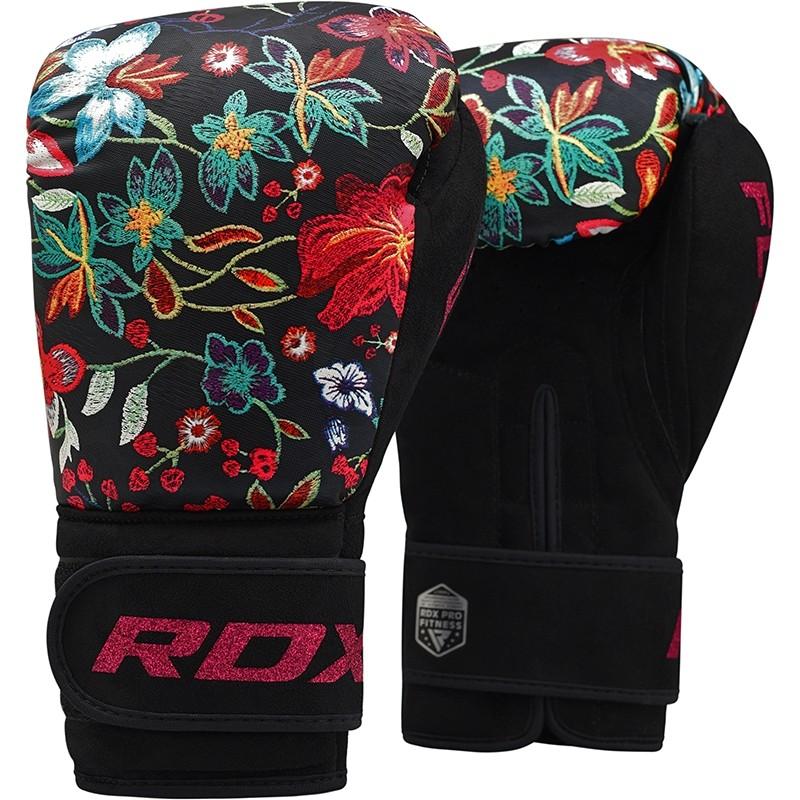 Купить Перчатки женские для бокса RDX Boxing Gloves FL-3 Floral Black, 6253_bk