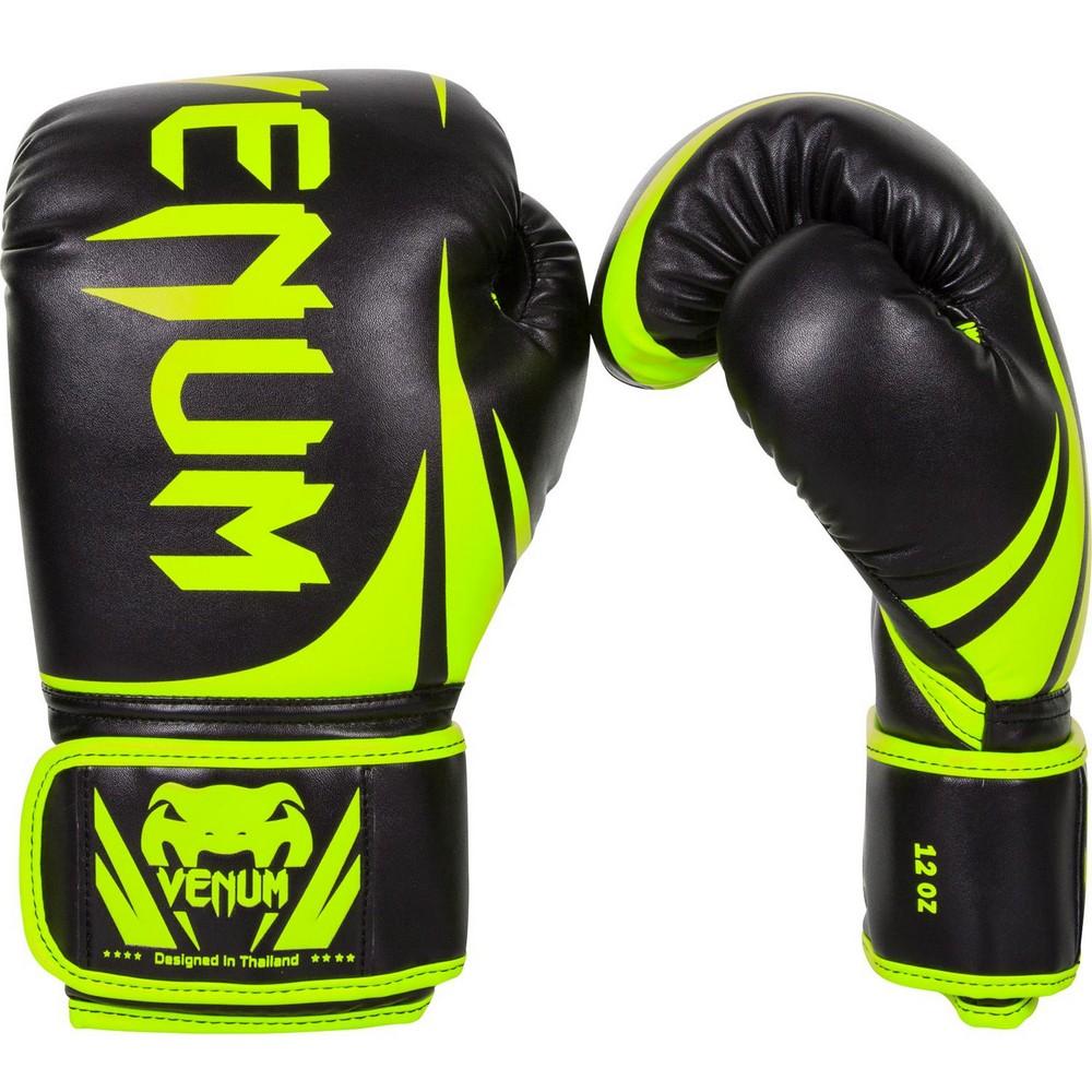 Купить Перчатки для бокса Venum Challenger 2.0 Neo Уценка (12), 5989_bk_yl