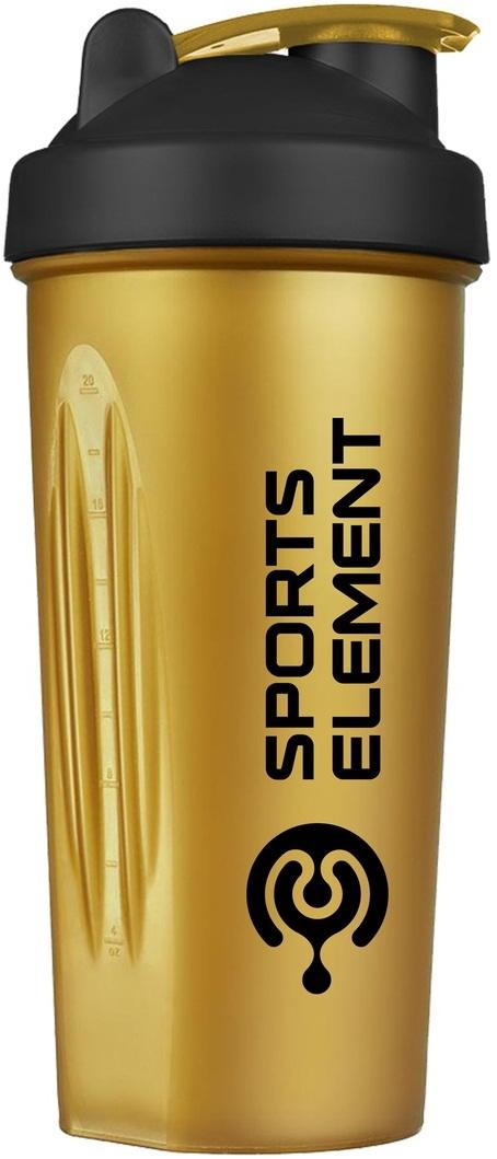Купить Шейкер Sports Element Трейд Черное Золото 600 мл, 6702_bk_gd