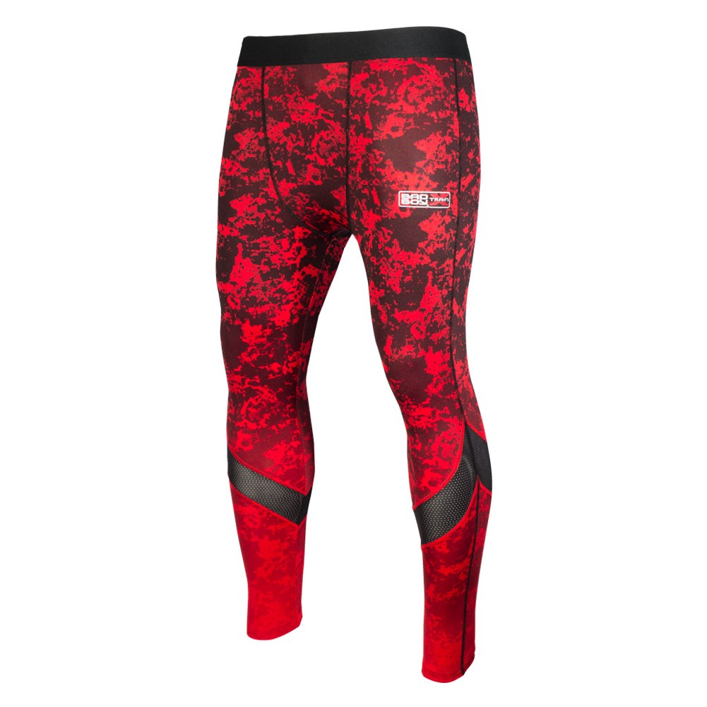 Купить Компрессионные штаны Bad Boy X-Train - Red Уценка (S), 6332_rd_bk