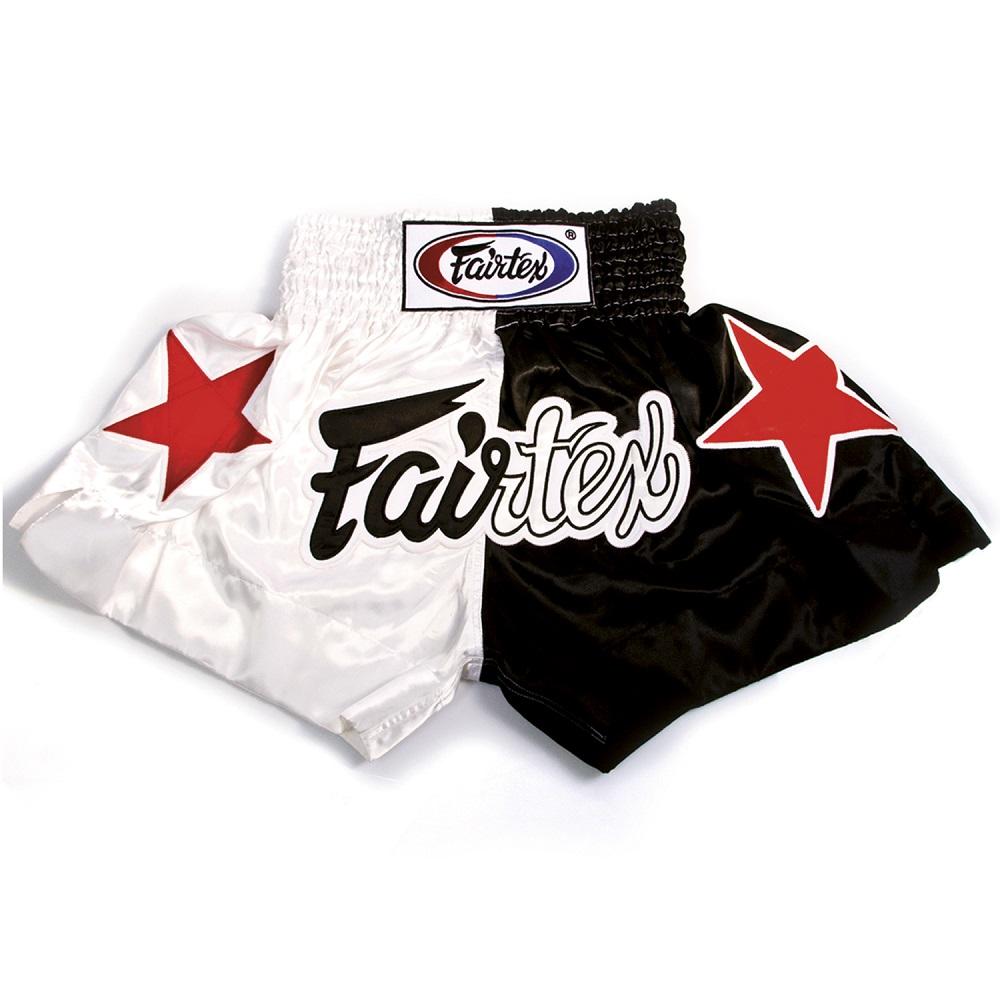 Купить Шорты Fairtex Muaythai Shorts BS81 White/Black, 5086_wh_bk