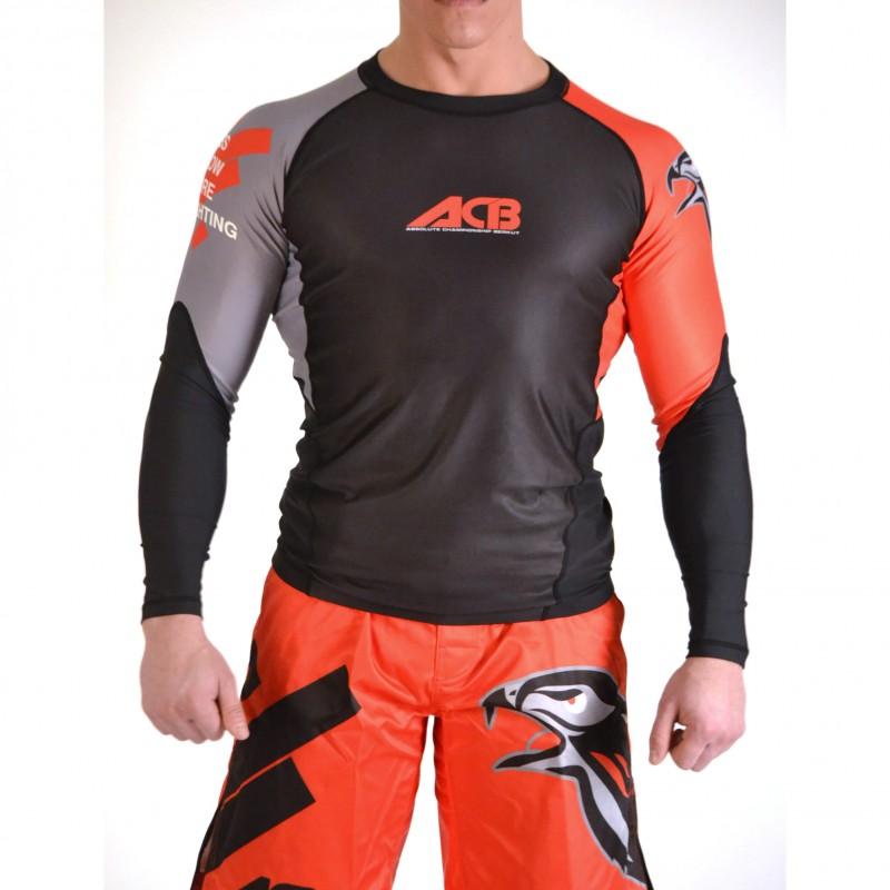 Купить Рашгард Iamfighter ACB - Long Sleeves Black, 5703_bk_rd_gy
