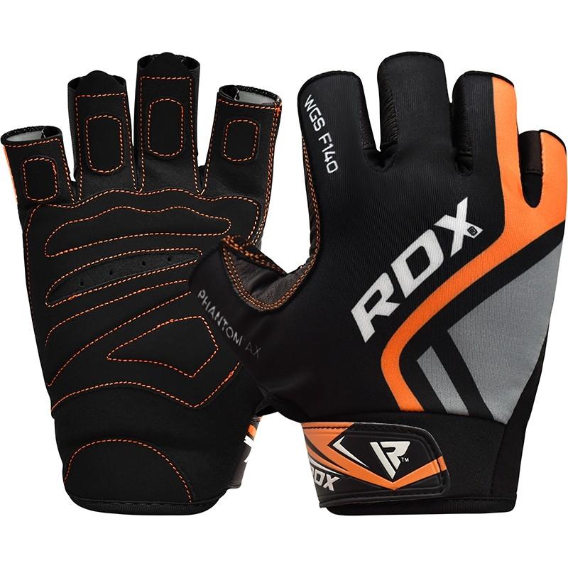 Купить Перчатки для пауэрлифтинга RDX Gym Glove Sumblimation F14 Orange, 6274_bk_or