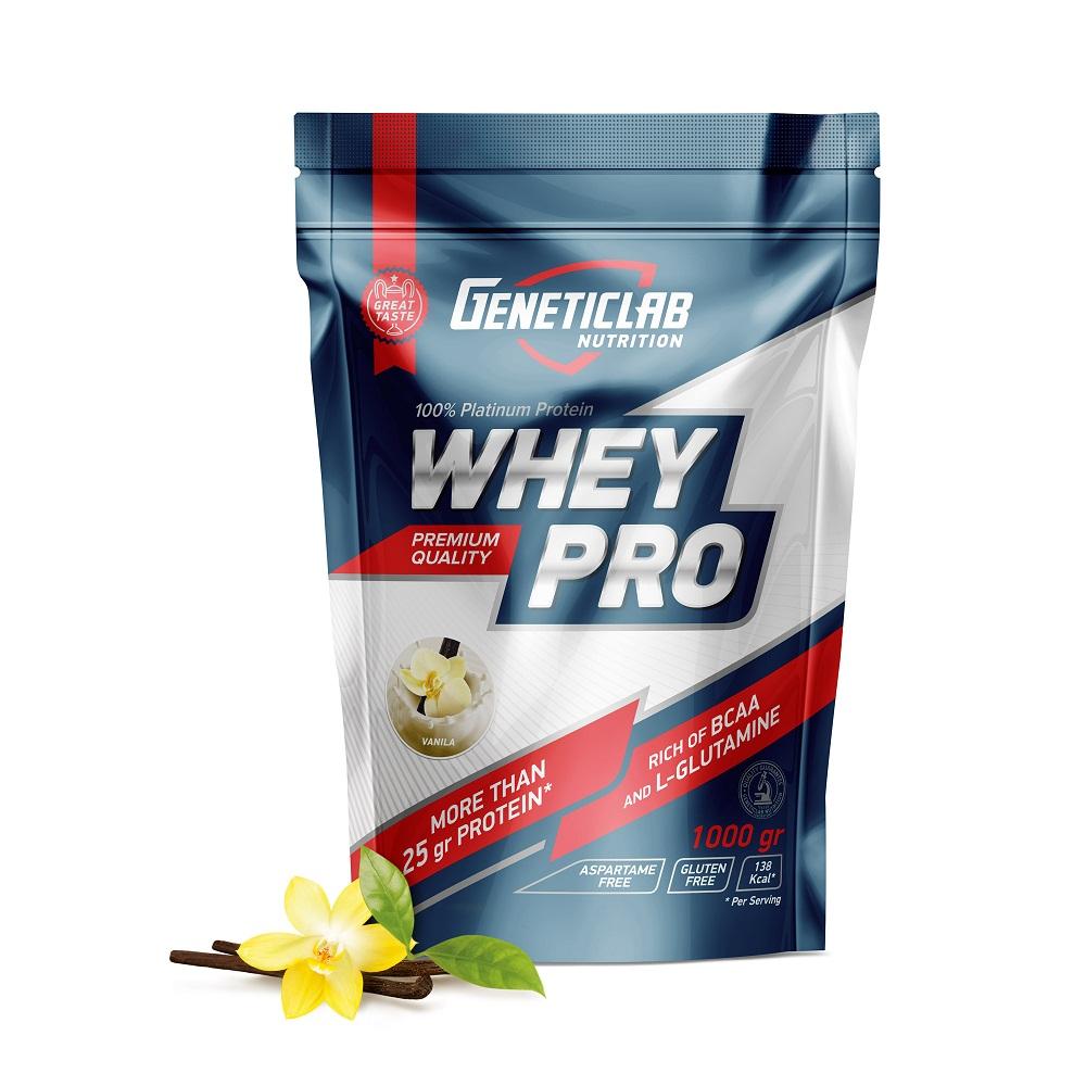 Купить Протеин Geneticlab Whey Pro 1000gr/30serv Vanilla, 5730_van