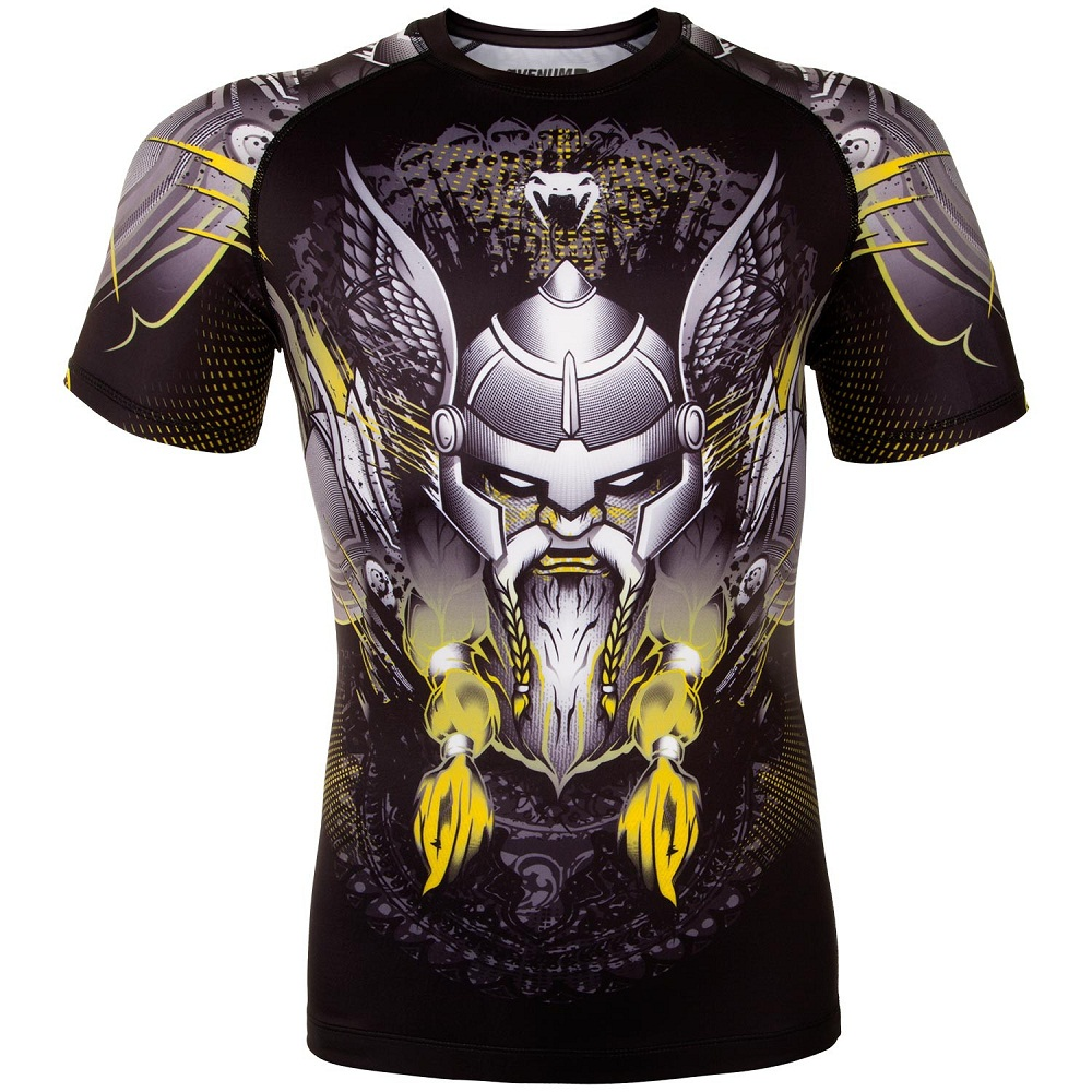 Купить Рашгард Venum Viking 2.0 Rashguard Short Sleeves - Black/Yellow, 5916_bk_yl