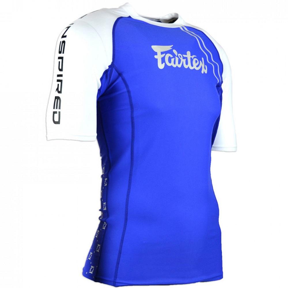 Купить Рашгард Fairtex Short sleeve RG2 Blue&, 5094_bl