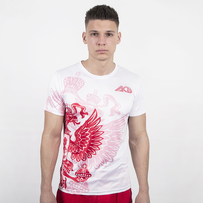 Футболка Iamfighter ACB Russia T-shirt White/Red