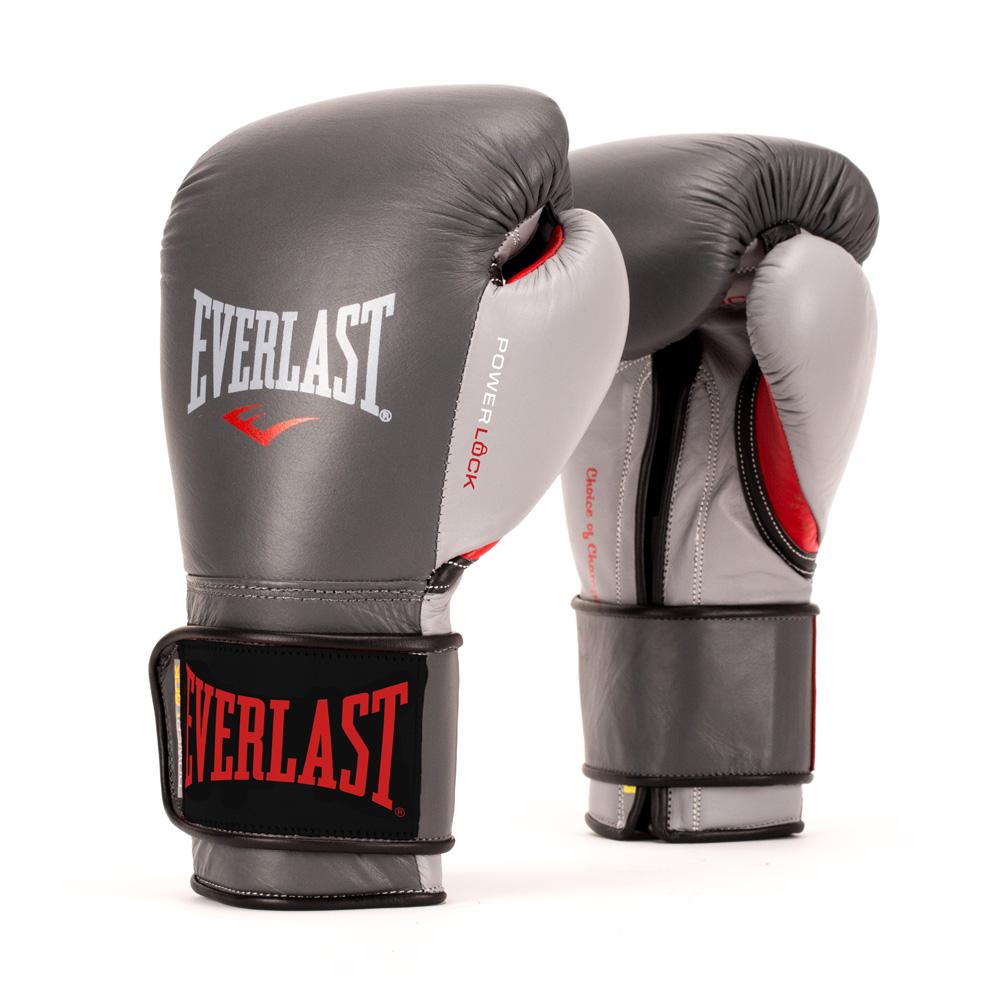 Купить Перчатки для бокса Everlast Powerlock Grey/Red, 5845_gy_rd