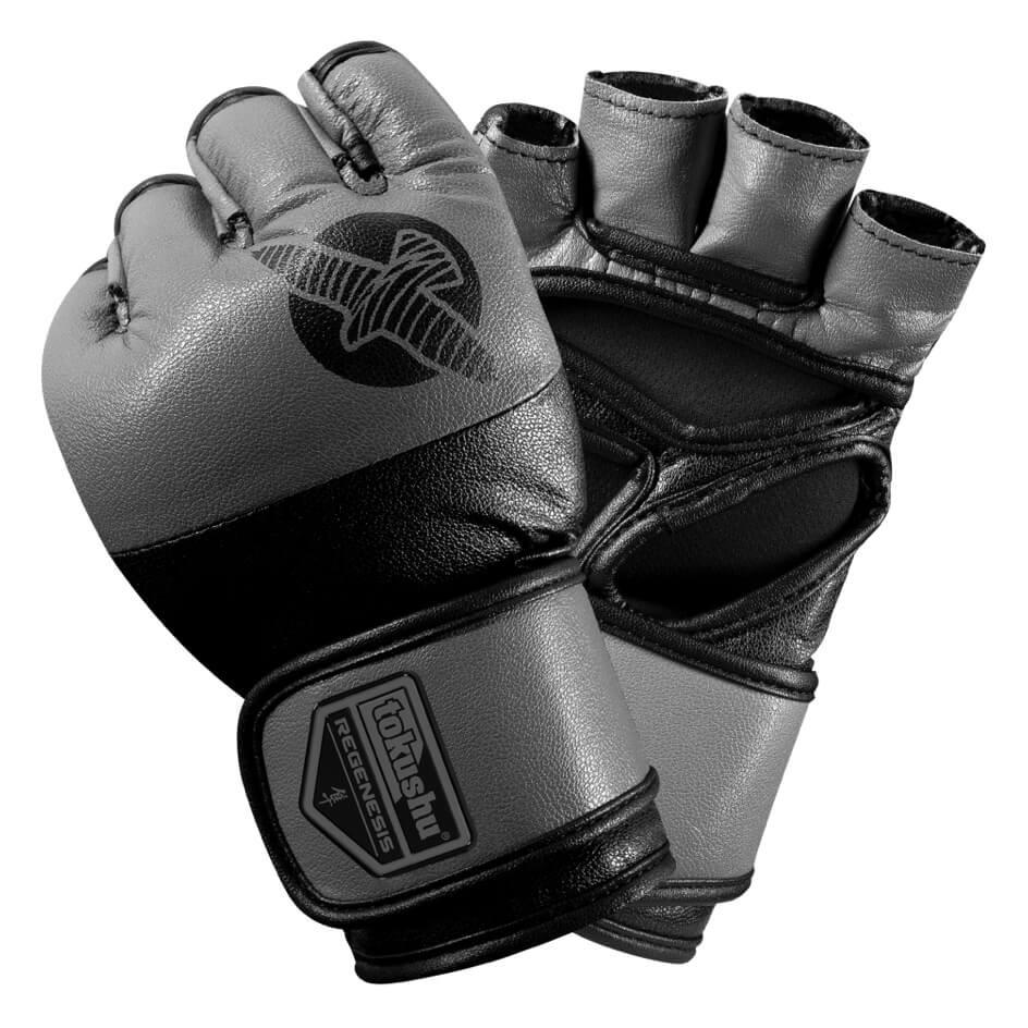 Купить Перчатки для ММА Hayabusa Tokushu Regenesis 4oz MMA Gloves Grey, 3429_gy