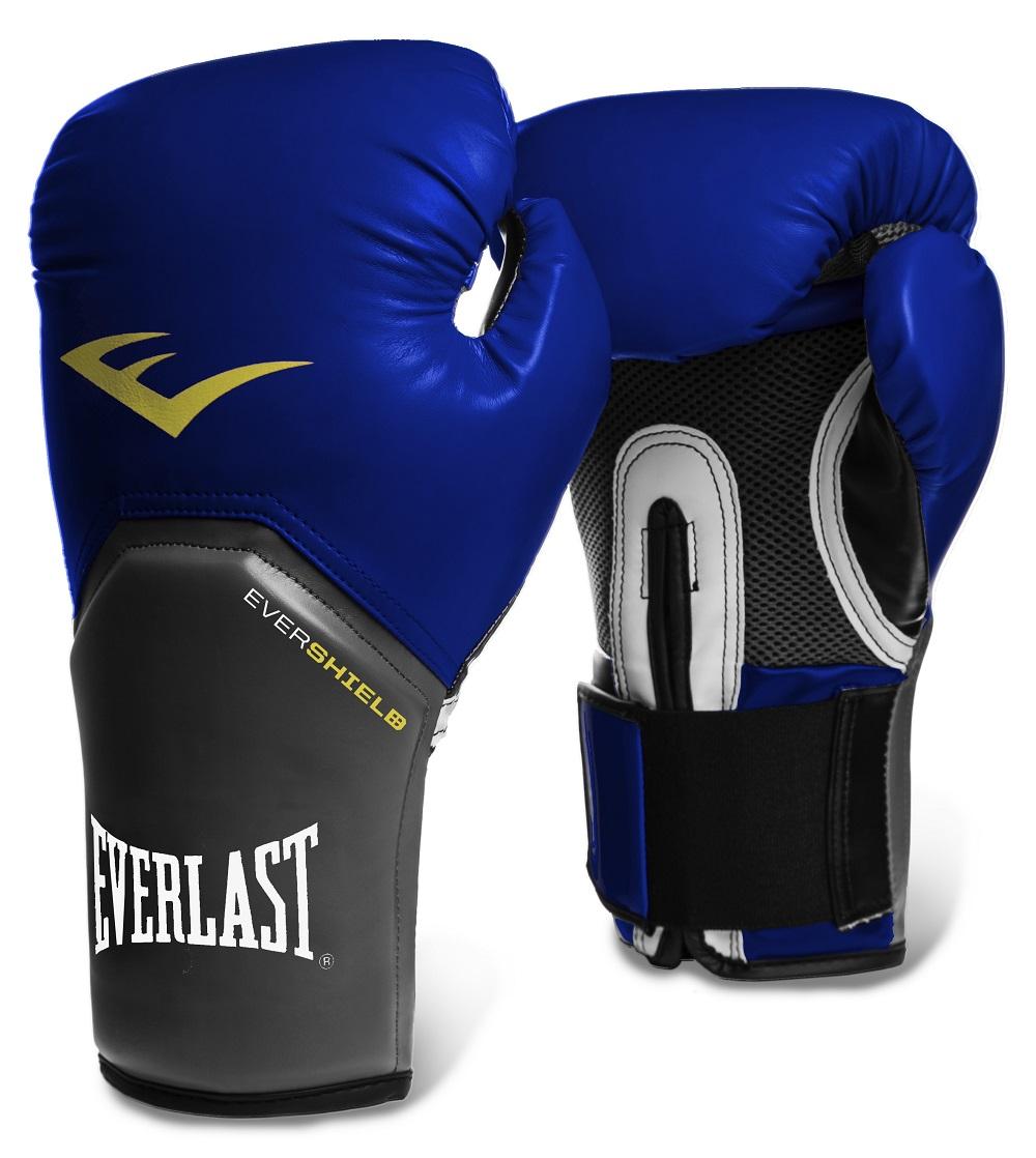 Купить Перчатки для бокса Everlast Pro Style Elite Blue, 5846_bl_gy