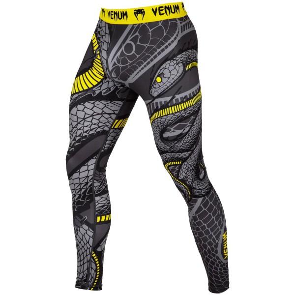 Купить Компрессионные штаны Venum Snaker LONG SPATS BLACK/YELLOW, 6154_gy_bk
