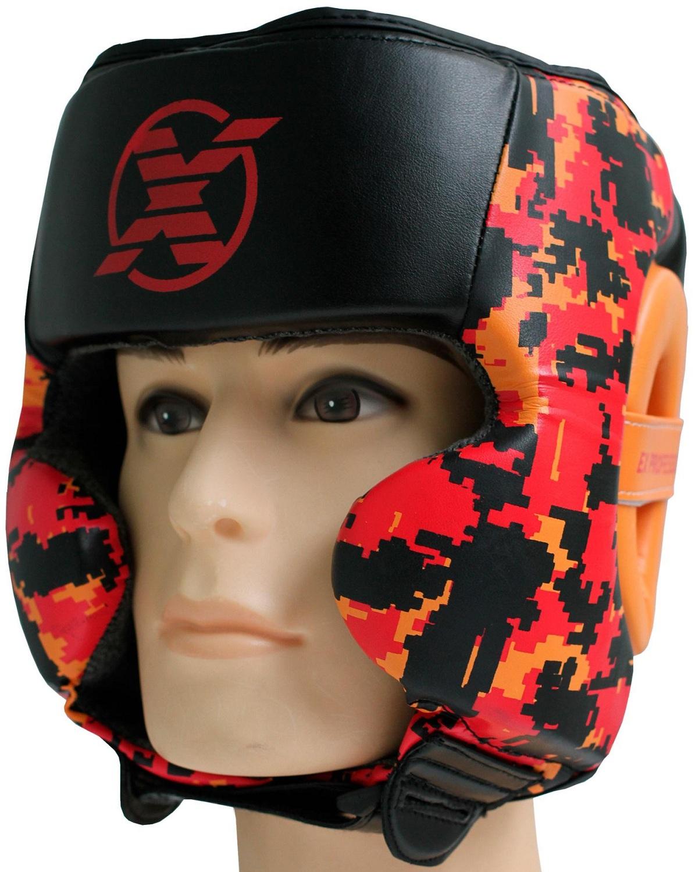 Купить Шлем Fight Expert Military Black Red, 6700_bk_rd