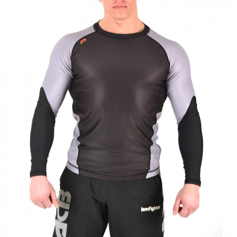 Купить Рашгард Iamfighter ACB - Long Sleeves Black/Grey, 5703_bk_gy