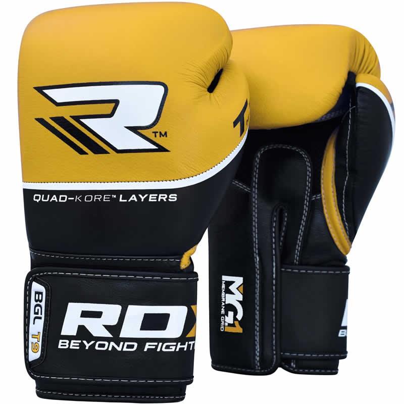 Купить Перчатки для бокса RDX Boxing Glove BGL-T9 Yellow, 4044_bk_yl