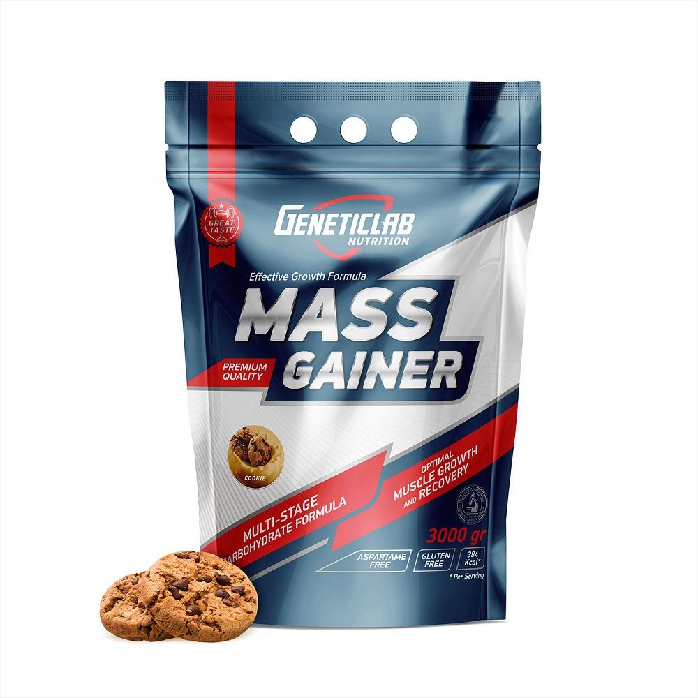 Купить Гейнер Geneticlab Mass Gainer 3000gr/30serv Cookie, 5735_cok