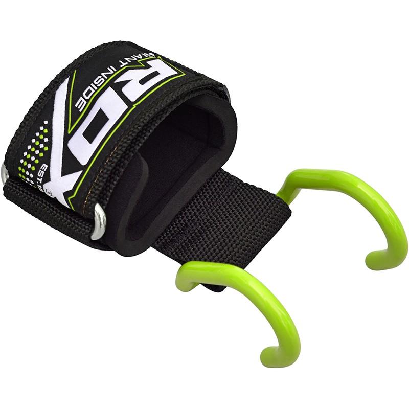 Купить Крюк для штанги/турника RDX Pro Weight Lifting Training Gym Green, 3217_gr