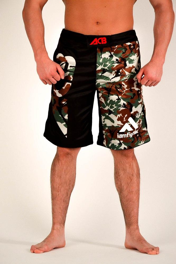 Купить Шорты Iamfighter MMA Shorts - Black/Green, 5723_bk_gr