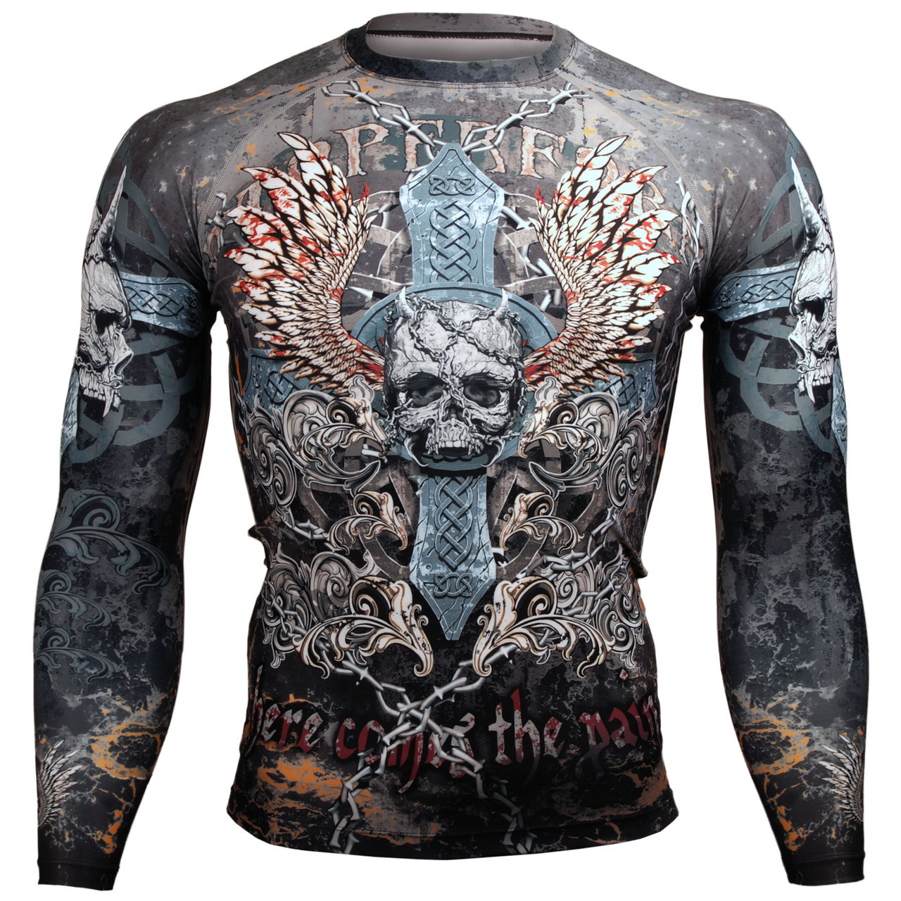 Купить Рашгард Btoperform Skull Cross FX-106, 4717_br