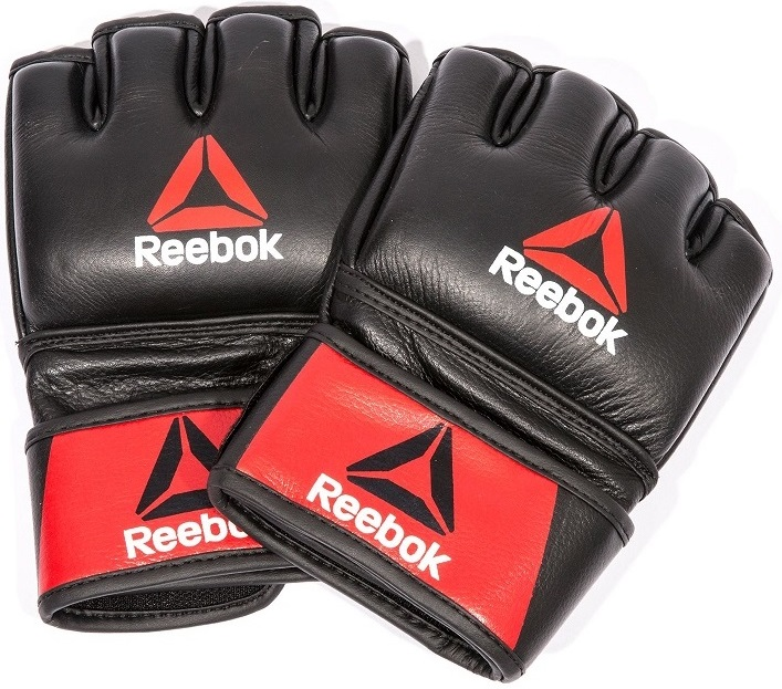 Купить Перчатки для ММА UFC/Reebok Combat Leather MMA Black, 5021_bk_rd