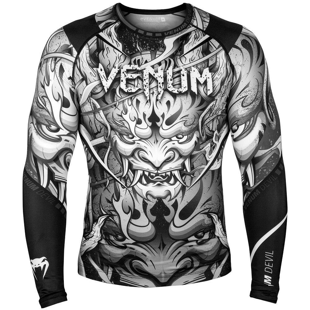 Купить Рашгард Venum Devil Long Sleeves Navy Black/White, 6623_bk_wh