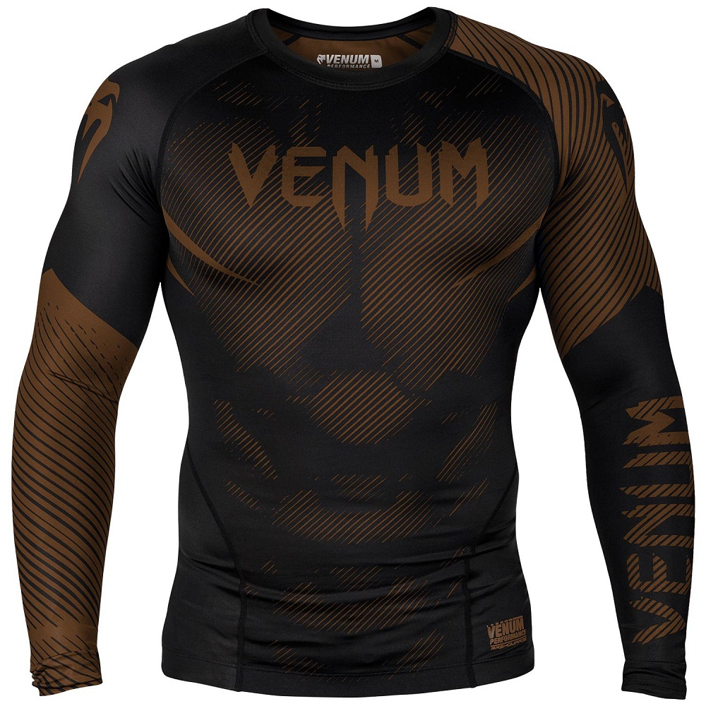 Купить Рашгард Venum NoGi 2.0 Rashguard Long Sleeves Black/Brown, 6620_bk_br
