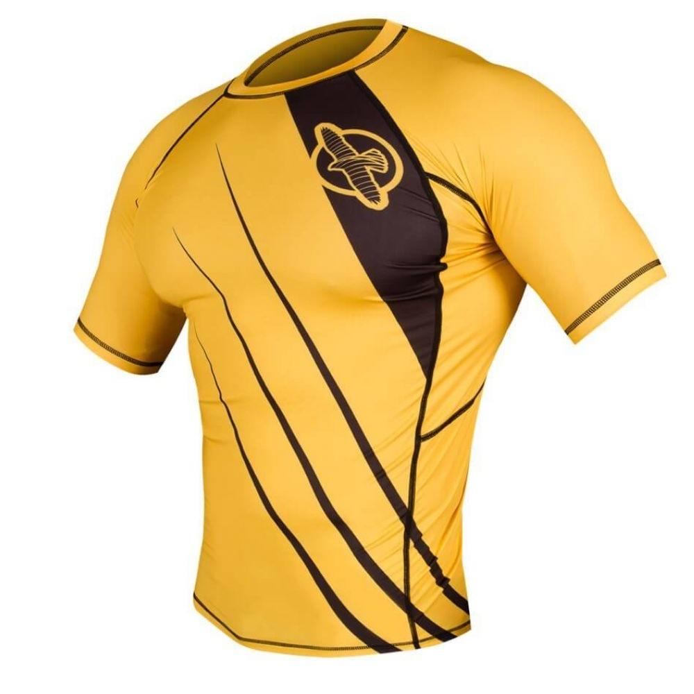 Купить Рашгард Hayabusa Recast Rashguard Short Sleeve Yellow, 3339_yl
