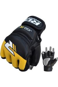 Детские перчатки для MMA RDX Kids Leather-X Grappling Black/Yellow