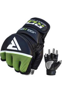 Детские перчатки для MMA RDX Grappling Glove Kids Black/Green